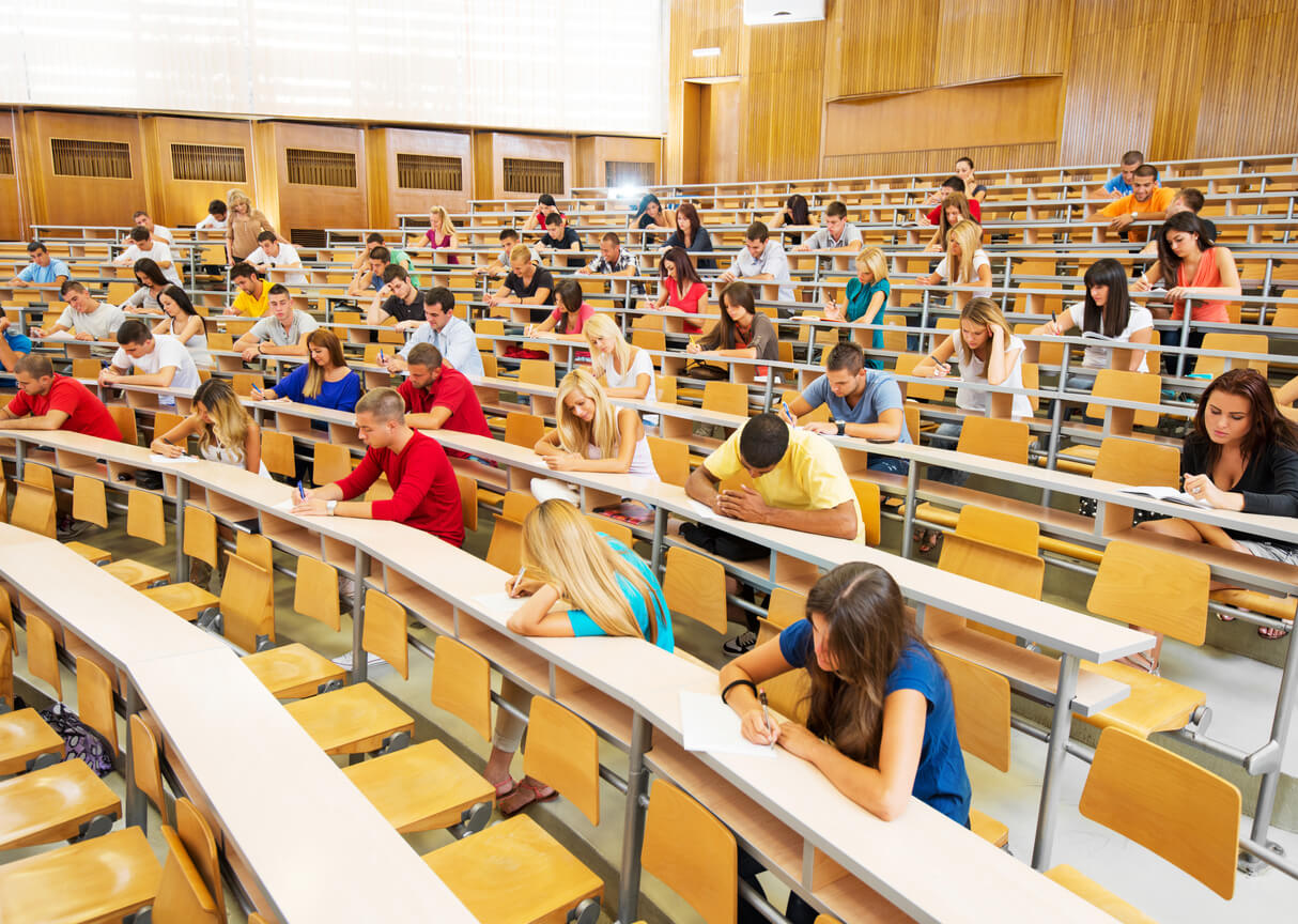 large lecture hall at college